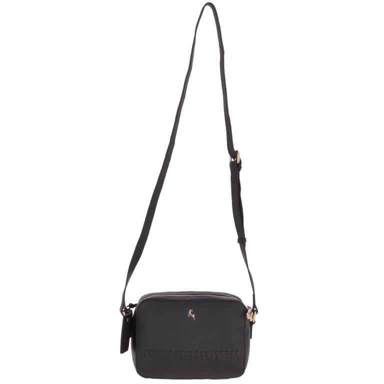 new arrive nice shoes official site Ashwood Womens Zip Around 2 Section Small Leather Cross Body Bag Black -  62103